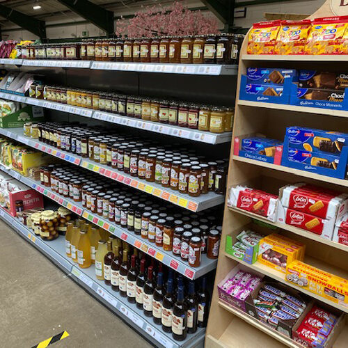 confectionery and biscuits for sale at avenue nurseries farm shop, alton