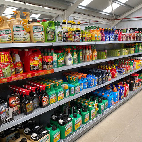 Chemicals and Fertilisers for sale at garden centre in Alton
