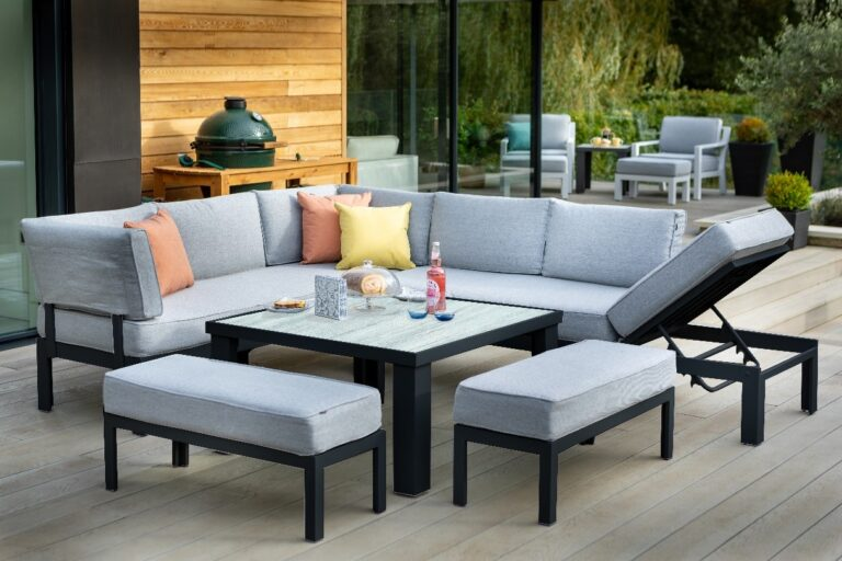 Hartman Apollo Adjustable Comfort Corner Casual Dining Set with Integrated Lounger