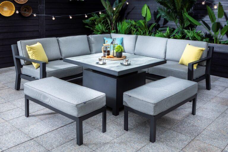 Hartman Apollo Square Adjustable Casual Dining Set