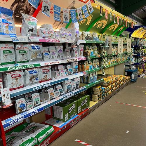 pet products for sale at garden centre alton